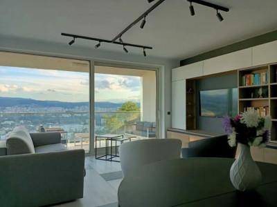 Apartament 4 camere, 100 mp, 2 locuri de parcare, 2 terase, Gruia
